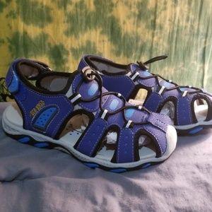 Other - NWT Sea Kidz Blue Gray Sport Sandals Big Boy Sz 5
